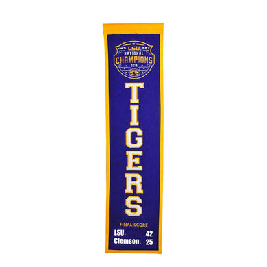 LSU Tigers 2019 NCAA CFP Champions Heritage Banner