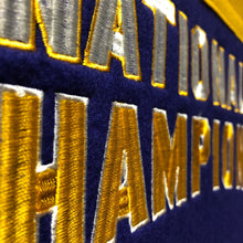 LSU Tigers 4-Time Football National Champions Banner - 14'' x 22''