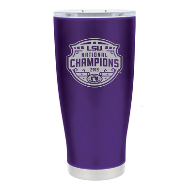 LSU Tigers CFP 2019 National Champions 20oz. Stainless Steel Etched Tumbler
