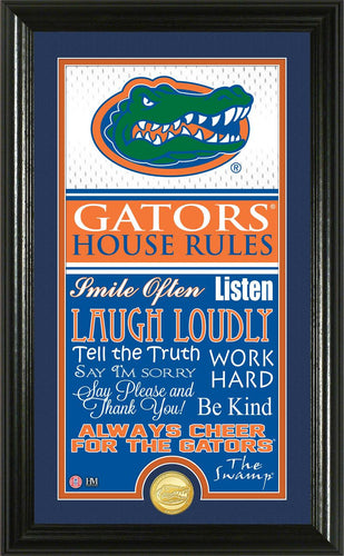 Florida Gators House Rules Supreme Bronze Coin Photo Mint
