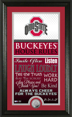 Ohio State Buckeyes House Rules Supreme Bronze Coin Photo Mint