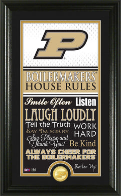 Purdue Boilermakers House Rules Supreme Bronze Coin Photo Mint