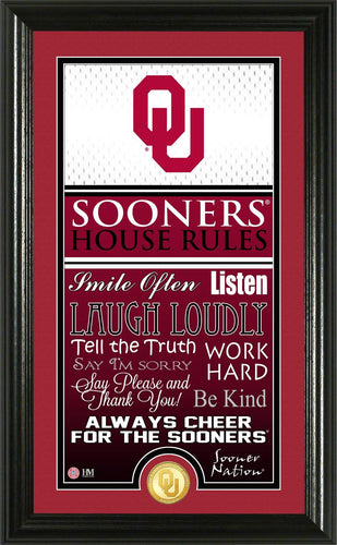 Oklahoma Sooners House Rules Supreme Bronze Coin Photo Mint