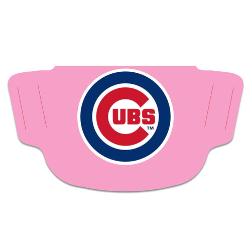 Chicago Cubs Pink Fan Mask Adult Face Covering
