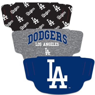 Los Angeles Dodgers Fan Mask Adult Face Covering 3 Pack