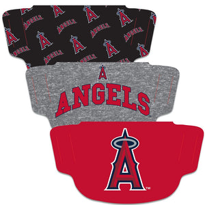 Los Angeles Angels Fan Mask Adult Face Covering - 3 Pack