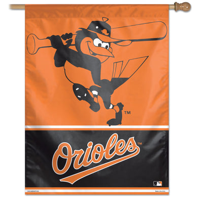 Baltimore Orioles Batting Mascot Vertical Flag - 27
