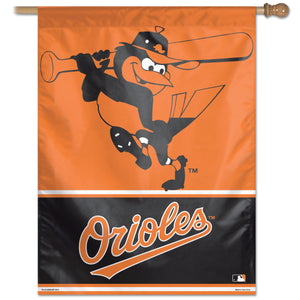 "Baltimore Orioles Batting Mascot Vertical Flag - 27""x37"""