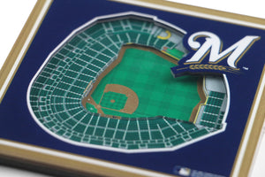 Milwaukee Brewers 3D StadiumViews Coaster Set