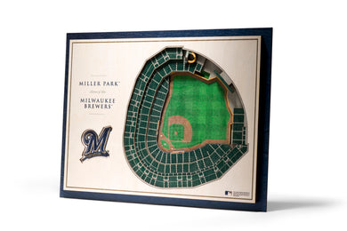milwaukee brewers miller park 3d stadiumview wall art