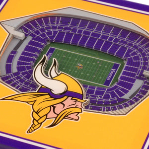 Minnesota Vikings 3D StadiumViews Coaster Set