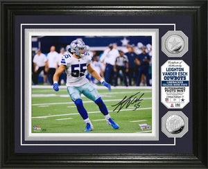 Leighton Vander Esch Dallas Cowboys Autographed Photo Mint