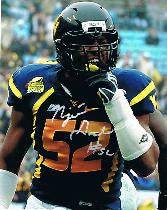 wvu football, najee goode autograph