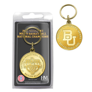 Baylor Bears 2021 NCAA Men's Basketball Champions Bronze Coin Key Chain