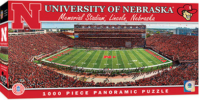 Nebraska Cornhuskers Football Panoramic Puzzle