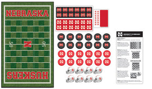 Nebraska Cornhuskers Checkers