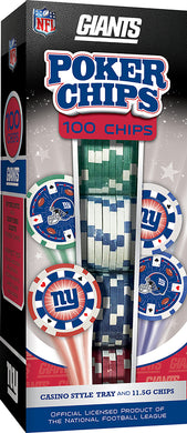 New York Giants Poker Chip Set