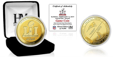 Patriots vs Falcons Super Bowl 51 Gold Flip Coin