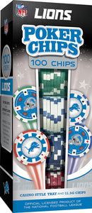 Detroit Lions Poker Chip Set