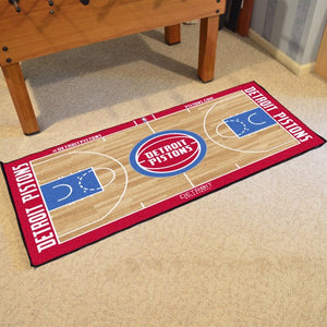 Detroit Pistons Large Basketball Court Runner