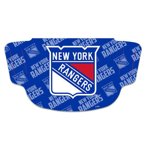 New York Rangers Fan Mask Adult Face Covering