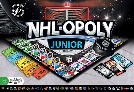 NHL Opoly Junior Board Game, Vegas Golden Knights, Chicago Blackhawks, Toronto Maple Leafs, St. Louis Blues,Pittsburgh Penguins,Philadelphia Flyers,NHL Hockey,New York Rangers,Montreal Canadiens,Minnesota Wild,Detroit Red Wings,Chicago Blackhawks,Boston Bruins