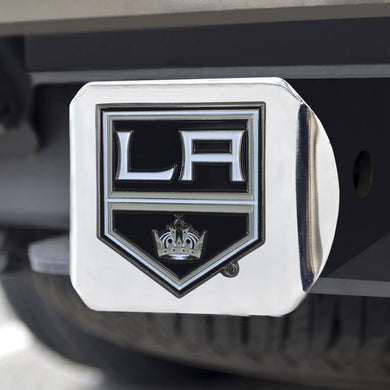 Los Angeles Kings Color Emblem On Chrome Hitch Cover
