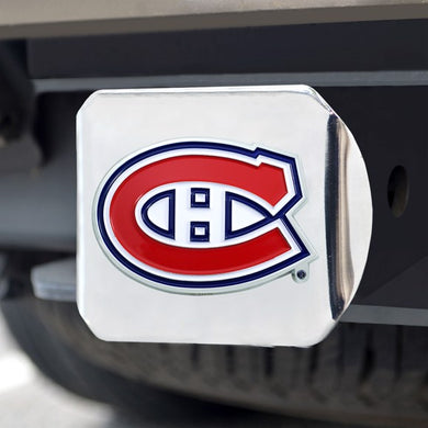 Montreal Canadiens Color Emblem On Chrome Hitch Cover