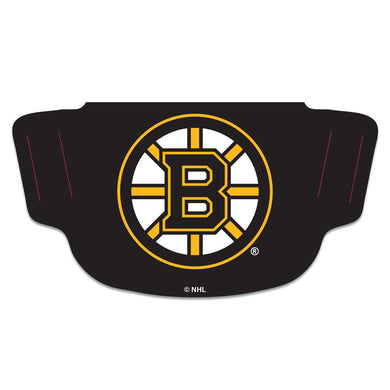 Boston Bruins Black Fan Mask Adult Face Covering