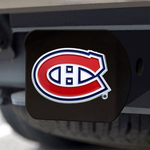 Montreal Canadiens Color Emblem On Black Hitch Cover