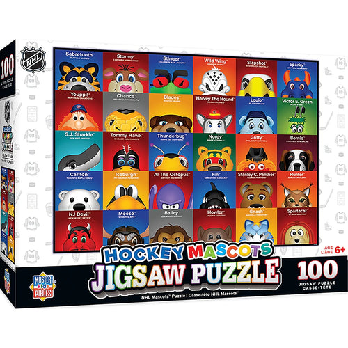 NHL Hockey Mascots 100 Piece Kids Puzzle