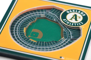 Oakland Athletics 3D StadiumViews Coaster Set
