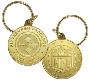 Pittsburgh Steelers Bronze Keychain