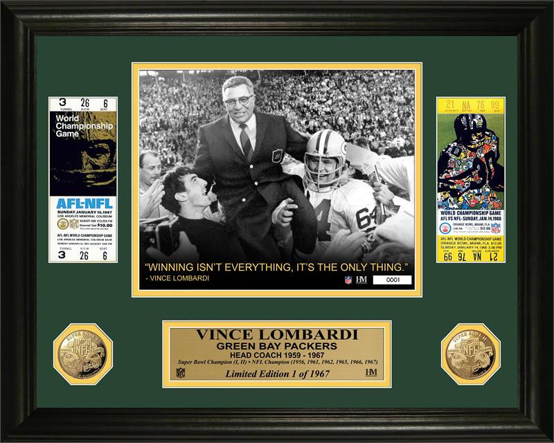 Vince Lombardi Green Bay Packers Super Bowl Ticket Gold Coin Photo Mint