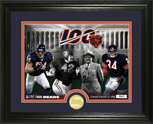 Chicago Bears 100th Anniversary Traditions Bronze Coin Photo Mint