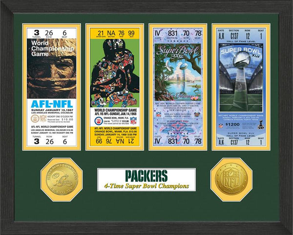 Green Bay Packers Super Bowl Championship Ticket Collection