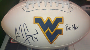 Sports memorabilia signed Adam Jones WVU football from Sports Fanz