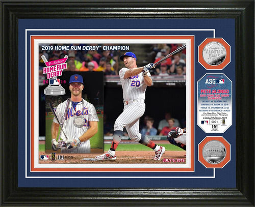 Pete Alonso New York Mets 2019 MLB Home Run Derby Champion Silver Coin Photo Mint