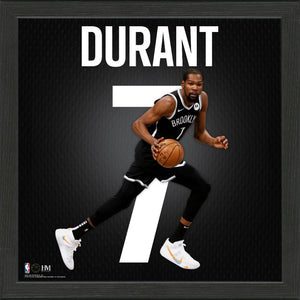 Kevin Durant Brooklyn Nets Impact Jersey Framed Photo