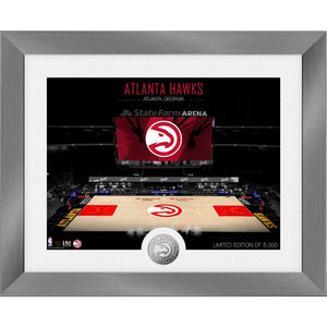 Atlanta Hawks Art Deco Silver Coin Photo Mint