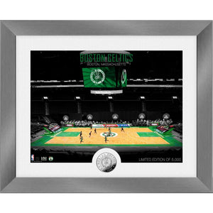 Boston Celtics Art Deco Silver Coin Photo Mint