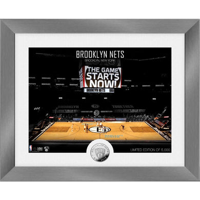 Brooklyn Nets Art Deco Silver Coin Photo Mint