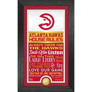 Atlanta Hawks House Rules Supreme Bronze Coin Photo Mint