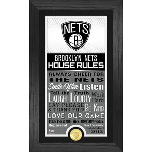Brooklyn Nets House Rules Supreme Bronze Coin Photo Mint