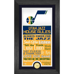 Utah Jazz House Rules Supreme Bronze Coin Photo Mint