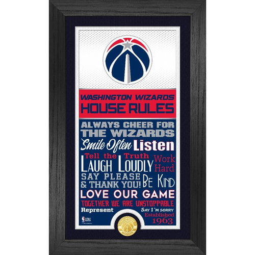 Washington Wizards House Rules Supreme Bronze Coin Photo Mint