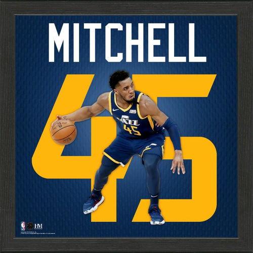 Donovan Mitchell Impact Jersey Framed Photo
