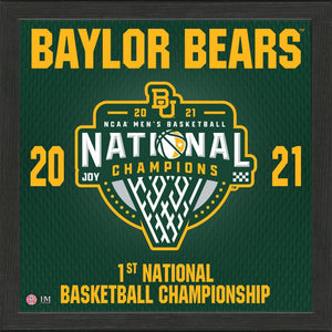 Baylor Bears 2021 NCAA Men's Basketball Champions Pride Frame
