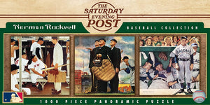 Saturday Evening Post MLB Cooperstown Panoramic Jigsaw Puzzle By Norman Rockwell