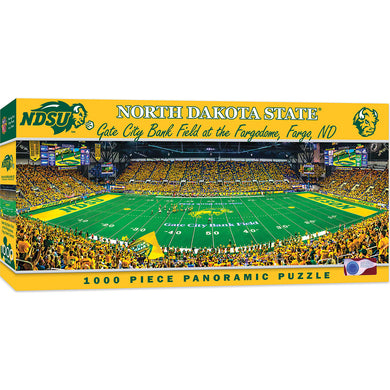 North Dakota State Bison Football Panoramic Puzzle